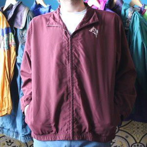 Vintage Firefly and Leaf Embroidered Windbreaker